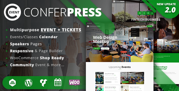 Wordpress Event Tickets theme