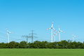 High voltage power lines and wind turbines - PhotoDune Item for Sale
