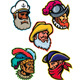 Explorers, Captains and Warrior Mascot - GraphicRiver Item for Sale