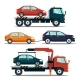Set of Cars Evacuating Broken or Damaged Auto - GraphicRiver Item for Sale