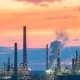 Industrial Zone the Equipment of Oil Refining at Sunset - VideoHive Item for Sale