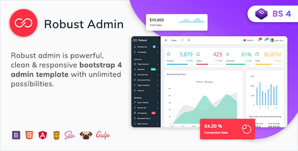 Robust - Premium Bootstrap 4 Admin, Dashboard & WebApp Kit Template