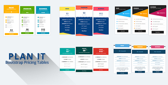 PLAN IT - Bootstrap Pricing Tables            Nulled