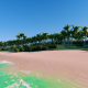 Flying Above Sand Sea Beach - VideoHive Item for Sale