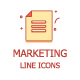 12 Line Marketing Icons - GraphicRiver Item for Sale