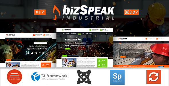 BizSpeak - Industrial Joomla Business Template