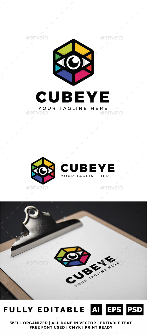 Cubic Eye Logo - Objects Logo Templates