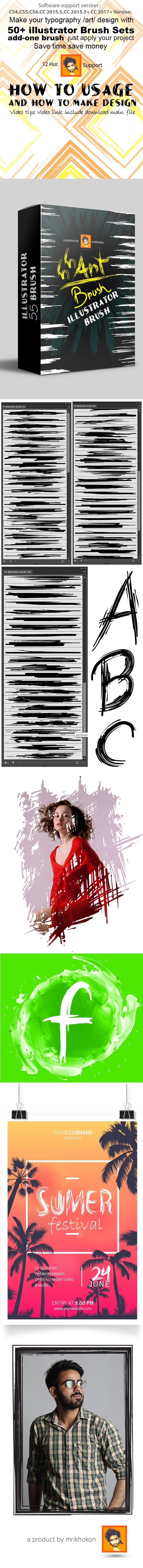 50+ Illustrator Brush Sets - Brushes Illustrator