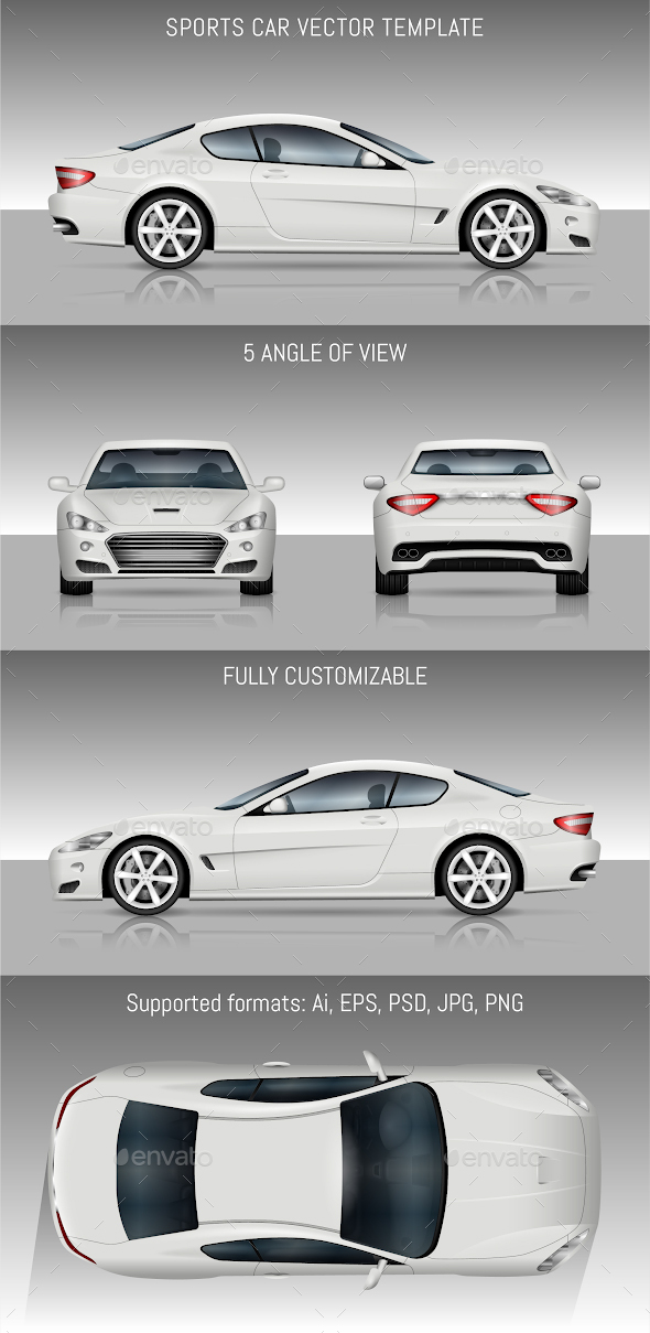 Sports Car Vector Template - Man-made Objects Objects