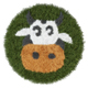 Children rug cow