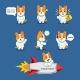 Space Dog Mascot Version 2