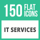 150 IT Services Flat Icons