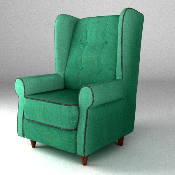 Armchair green - 3DOcean Item for Sale