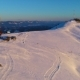 Flying over Snow Covered Winter Mountain Landscape - VideoHive Item for Sale