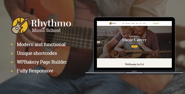 Rythmo | Music School WordPress Theme Free Download | Nulled