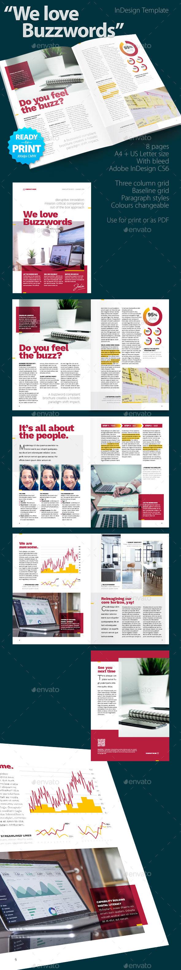 We Love Buzzwords Brochure - Corporate Brochures