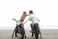 Young beautiful couple on motorcycles - PhotoDune Item for Sale