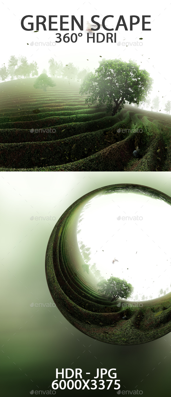Green Scape HDRI - 3DOcean Item for Sale