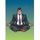 Businessman Meditating with Background