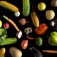 Vegetables Falling on Black 4k - VideoHive Item for Sale