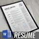 Modern Resume CV Template - GraphicRiver Item for Sale