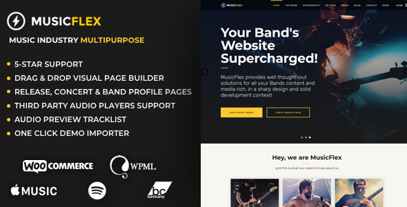 MusicFlex - Music Band & Musician Theme - Music and Bands Entertainment