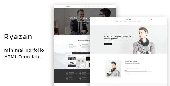 Ryazan - Minimal Portfolio HTML Template