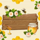 Background with Bees,Honey, Flowers and Honeycomb - GraphicRiver Item for Sale