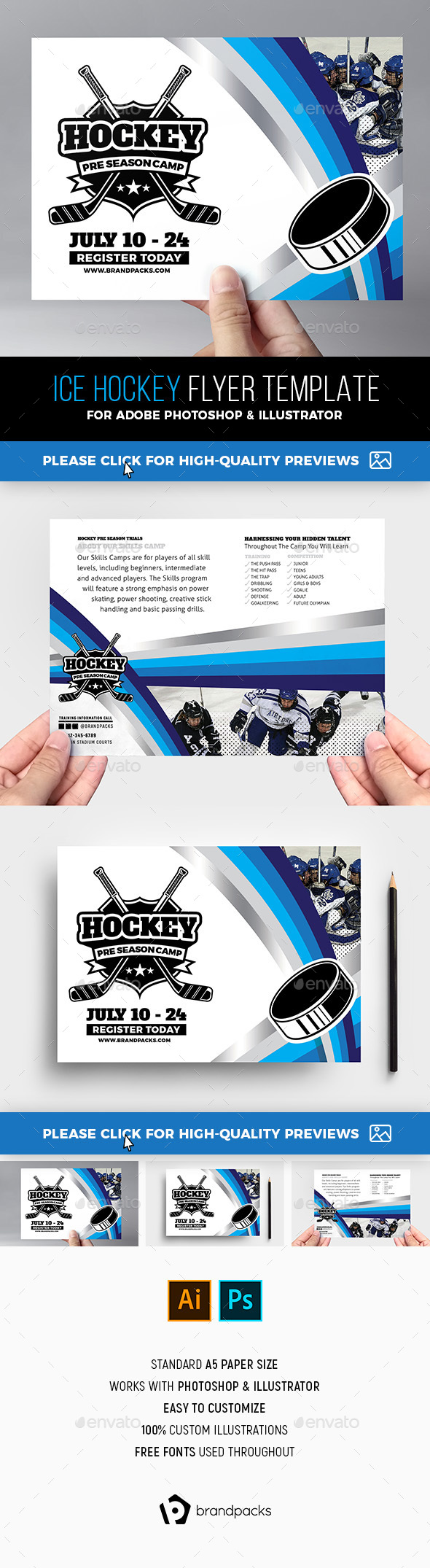 Ice Hockey Flyer Template - Sports Events