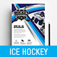 Ice Hockey Poster / Advertisement Template - GraphicRiver Item for Sale