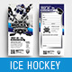 Ice Hockey DL Rack Card Template - GraphicRiver Item for Sale