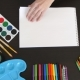 Paper, Paints and Pencils for Drawing - VideoHive Item for Sale