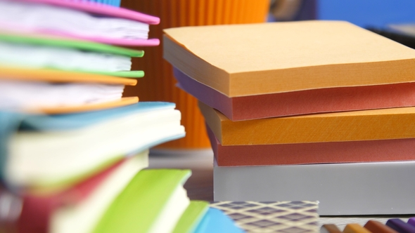multicolored paper blocks for memo notes by aeroshot videohive