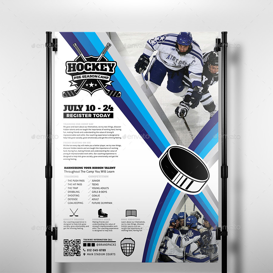 Ice Hockey A3 Poster Template