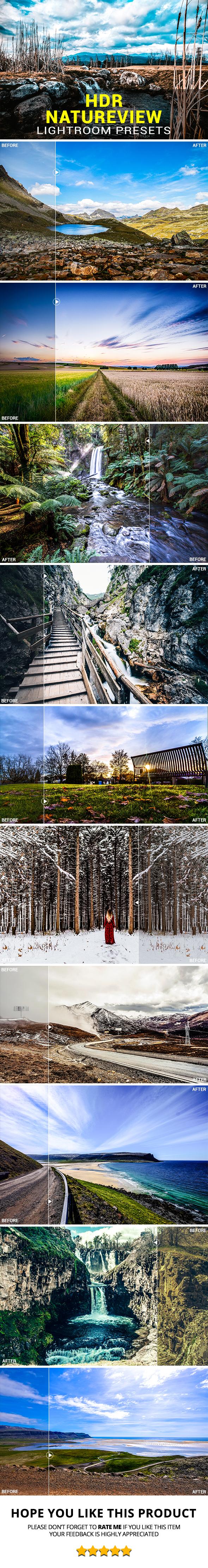 20 HDR Natureview Lightroom Presets - Lightroom Presets Add-ons