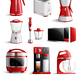 Realistic Household Kitchen Appliances Icon Set