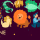 Zodiacal Signs Header Illustration