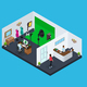 Isometric Photo Studio Concept