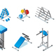 Isometric Fitness Equipment Collection