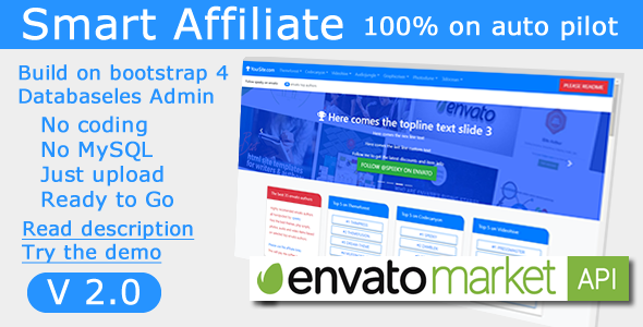 Smart Affiliate for envato users and authors - CodeCanyon Item for Sale