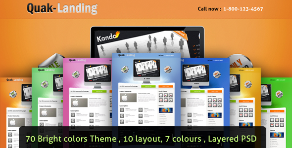 Free Download Quak - Landing page 70 variations Nulled Latest Version