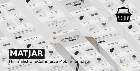 Matjar - Minimalist UI eCommerce Mobile Template Free Download | Nulled