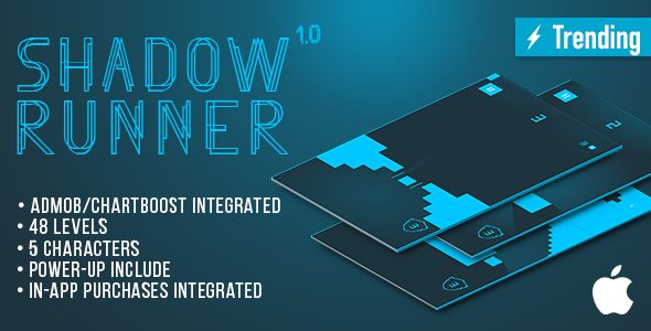 Shadow Runner (IOS) Fun Arcade Game Template + easy to reskine + AdMob - CodeCanyon Item for Sale