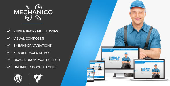 Mechanico - Car Mechanic Shop WordPress Theme - Business Corporate