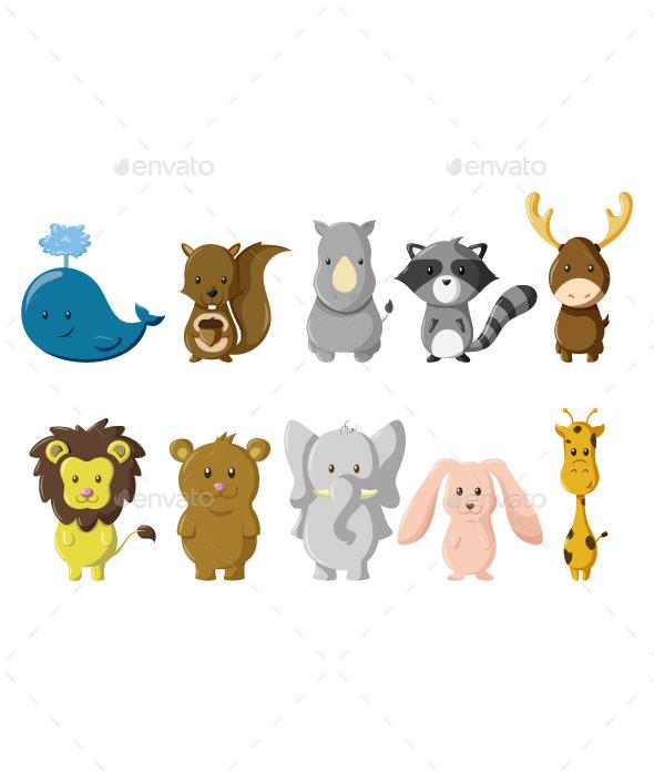 Animals Vector Illustration - Animals Characters