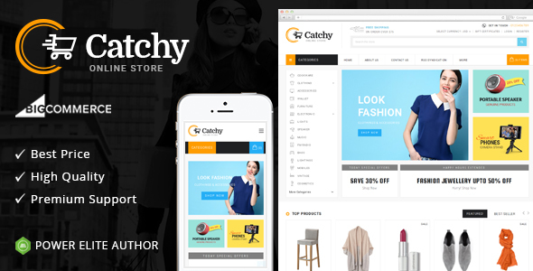 Catchy - Multipurpose Stencil BigCommerce Theme - BigCommerce eCommerce