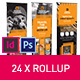 Square Style Rollup Stand Banner Display 24x InDesign and Photoshop Template - GraphicRiver Item for Sale