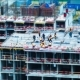 Tilt Shift Builders and Cranes Working on the Construction Site - VideoHive Item for Sale