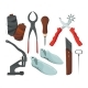 Different Tools for Shoe Repair. Vector Pictures