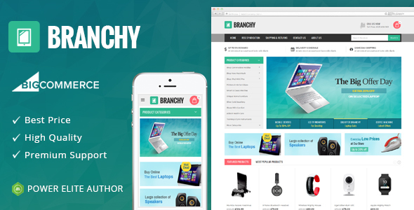 Branchy - Multipurpose Stencil BigCommerce Theme - BigCommerce eCommerce